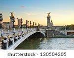 famous alexandre iii bridge at...