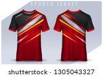 t shirt sport design template ...   Shutterstock .eps vector #1305043327