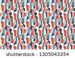 geometric seamless pattern of... | Shutterstock .eps vector #1305043354