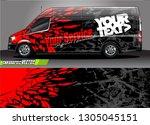 van livery design vector.... | Shutterstock .eps vector #1305045151
