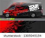 van livery design vector.... | Shutterstock .eps vector #1305045154