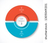 vector infographic circle.... | Shutterstock .eps vector #1305049201
