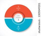 vector infographic circle....   Shutterstock .eps vector #1305049201