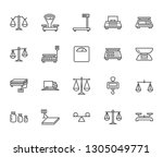 balance flat line icons set.... | Shutterstock .eps vector #1305049771