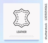 leather thin line icon. modern... | Shutterstock .eps vector #1305054061