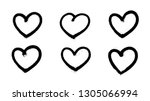 Sprayed graffiti hearts set in black on white. Vector illustration EPS 10