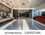 Stock photo woodland hotel entrance and a reception 130507184
