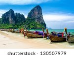 traditional thai boats at the... | Shutterstock . vector #130507979