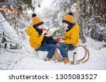 sweet siblings  children having ... | Shutterstock . vector #1305083527