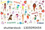 seth with beautiful women of... | Shutterstock .eps vector #1305090454