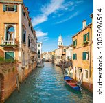 italy beauty  boats and typical ... | Shutterstock . vector #1305096514