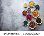 set of different superfoods in...   Shutterstock . vector #1305098224