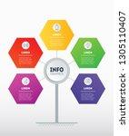 business presentation or... | Shutterstock .eps vector #1305110407
