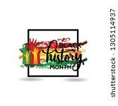 black history month vector... | Shutterstock .eps vector #1305114937