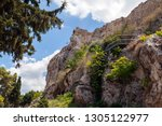 the reconstructed ancient ruins ... | Shutterstock . vector #1305122977