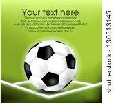 soccer corner with ball eps10 | Shutterstock .eps vector #130513145