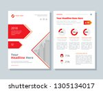 business brochure layout.... | Shutterstock .eps vector #1305134017