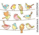 collection of different cute... | Shutterstock .eps vector #1305135454