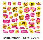 sales banner. super mega...   Shutterstock .eps vector #1305137971