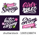 set calligraphy icons and... | Shutterstock .eps vector #1305138874