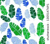 seamless pattern with hand... | Shutterstock . vector #1305147691