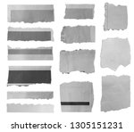 pieces of torn paper on plain... | Shutterstock . vector #1305151231