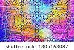 ethnic background. tribal... | Shutterstock .eps vector #1305163087