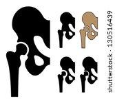 vector human hip joint symbols | Shutterstock .eps vector #130516439