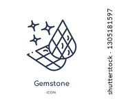 gemstone icon from nature... | Shutterstock .eps vector #1305181597
