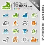 stickers   sport icons | Shutterstock .eps vector #130518551