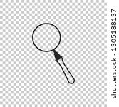 magnifying glass icon isolated...   Shutterstock .eps vector #1305188137