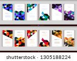 abstract geometric business... | Shutterstock .eps vector #1305188224