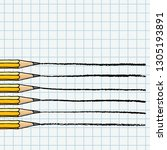 graphite pencils drawing lines... | Shutterstock .eps vector #1305193891