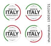 set of four italian icons ... | Shutterstock .eps vector #1305195721
