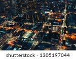 aerial view of downtown los... | Shutterstock . vector #1305197044