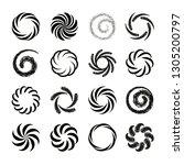 set of spiral swirl icons ... | Shutterstock .eps vector #1305200797