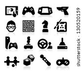entertaining icons | Shutterstock .eps vector #130520159