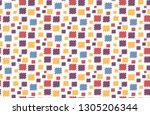 seamless pattern for fabric in... | Shutterstock .eps vector #1305206344