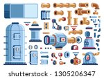 spare parts for steampunk... | Shutterstock .eps vector #1305206347