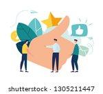 vector illustration on white... | Shutterstock .eps vector #1305211447