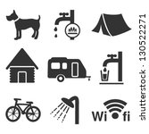 vector camping icons   set 1   Shutterstock .eps vector #130522271