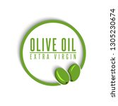 logo olive oil extra virgin... | Shutterstock .eps vector #1305230674