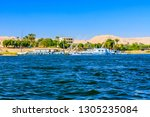 view of nile river in luxor ... | Shutterstock . vector #1305235084