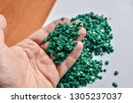 close up of plastic chips made... | Shutterstock . vector #1305237037