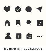 social media interface set... | Shutterstock .eps vector #1305260071