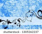 floral background design | Shutterstock . vector #1305262237
