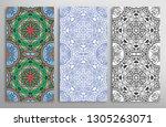 vertical seamless patterns set  ... | Shutterstock .eps vector #1305263071