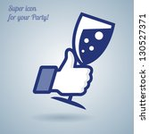 like thumbs up symbol icon with ... | Shutterstock .eps vector #130527371
