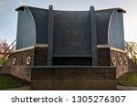 unique 1930s art deco bandstand ... | Shutterstock . vector #1305276307