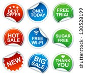 set of round stickers | Shutterstock .eps vector #130528199